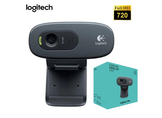 Logitech C270 HD Webcam For Video Conferencing, HD 720p 30 FPS, Widescreen HD Video Calling, HD Light Correction, Noise-Reducing Mic