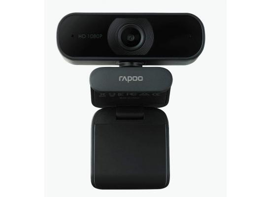 Rapoo C260 USB Black Full HD Webcam, 1080p 30hz, 360° Horizontal, 95° Super Wide-Angle