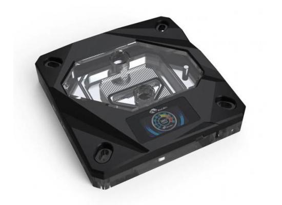 Bykski CPU-FIRE-ON-I CPU Water Cooling Block w/ Temp Digital Display - Black w/ 5v Addressable RGB (RBW) (LGA 115x / 20xx)