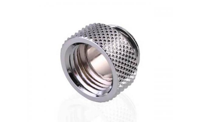 Bykski G 1/4in. Male/Female Extension Coupler, Fine Diamond 7.5mm Pattern Extension G1/4 Internal Thread, Silver (B-EXJ-7.5)