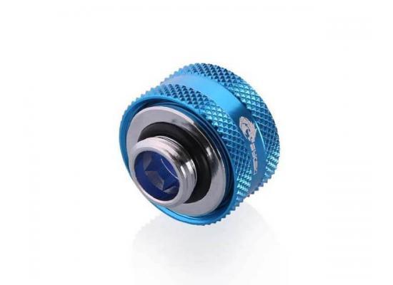 Bykski Anti-Off Rigid, Anti Release Of Hard Tube Fast joint 16mm OD Fitting, Blue (B-FTHTJ-L16)