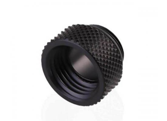 Bykski G 1/4in. Male/Female Extension Coupler, Fine Diamond 7.5mm Pattern Extension G1/4 Internal Thread, Black (B-EXJ-7.5)