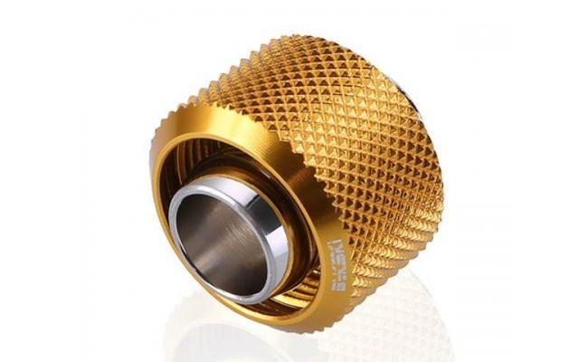 Bykski Flex 10mm ID x 16mm OD Fitting, Gold (B-FT3-TK)