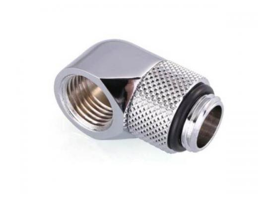 Bykski G 1/4in. Male to Female 90 Degree Rotary Elbow Fitting, Silver (B-RD90-X)