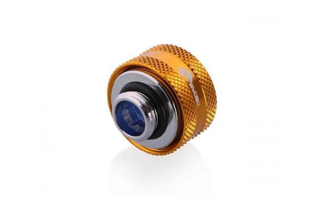Bykski Anti-Off Rigid, Anti Release Of Hard Tube Fast joint 16mm OD Fitting, Gold (B-FTHTJ-L16)