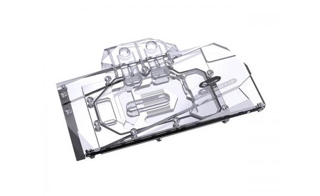 Bykski Full Coverage GPU Water Block and Backplate for AIC Reference RTX 3080/3090 - Version 2 (N-RTX3090H-X-V2). 5v Addressable RGB (RBW) Transparent