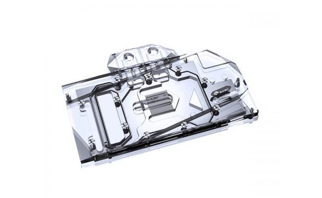 Bykski Full Coverage GPU Water Block and Backplate for MSI RTX 3070 VENTUS (N-MS3070VES-X). 5v Addressable RGB (RBW) Transparent