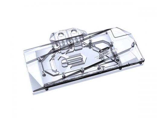 Bykski Full Coverage GPU Water Block and Backplate for MSI RTX 3090 VENTUS (N-MS3090VES-X). 5v Addressable RGB (RBW) Transparent
