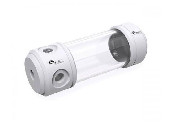 Bykski 50mm Cylindrical Reservoir - White POM - 260mm Total Length (CT-POM-V2)