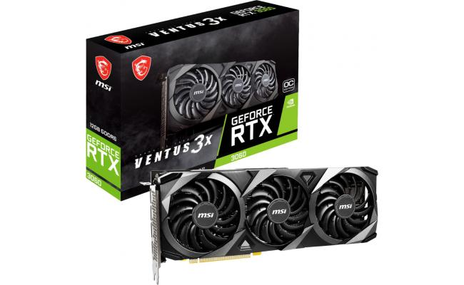 MSI GeForce RTX 3060 VENTUS 3X 12GB OC - Graphics Card
