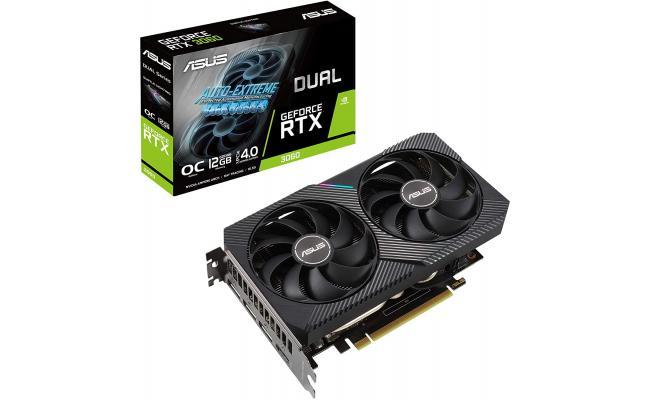 ASUS Dual GeForce RTX 3060 OC GDDR6 12GB (LHR) - Graphics Card
