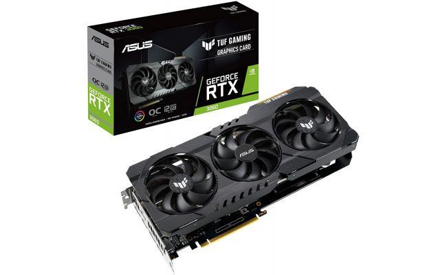 ASUS TUF Gaming GeForce RTX 3060 12GB GDDR6 OC Edition - Graphics Card