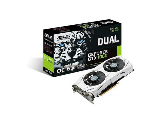 Asus Dual series GTX 1060 OC edition 6GB GDDR5