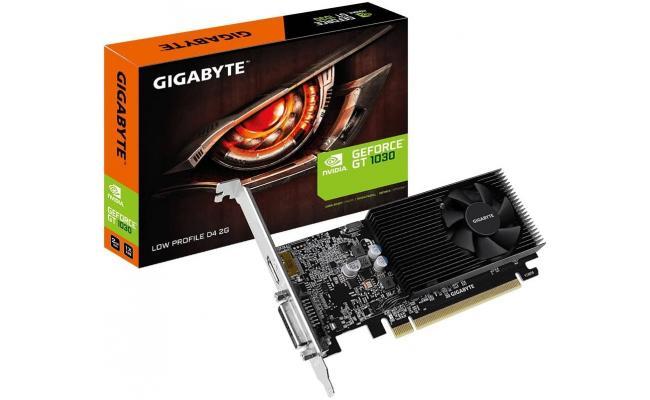 GIGABYTE GT 1030 Low Profile D4 2G  (150mm card length) DDR4 2G 64bit memory - Graphics Card