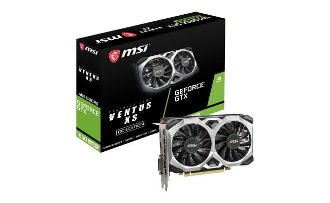 MSI NVIDIA GeForce 1650 SUPER 4GB VENTUS XS OC GDDR6