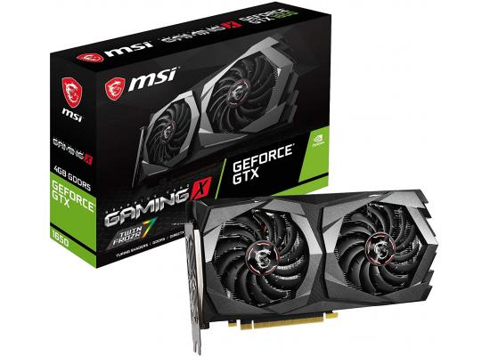 MSI GeForce GTX 1650 GAMING X PLUS 128-Bit HDMI/DP 4GB GDRR6 HDCP Support DirectX 12 Dual Fan OC Graphics Card (On Custom Build Only)