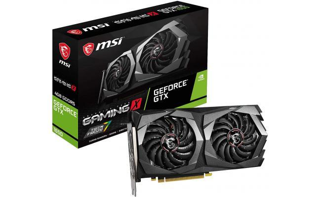 MSI GeForce GTX 1650 GAMING X PLUS 128-Bit HDMI/DP 4GB GDRR6 HDCP Support DirectX 12 Dual Fan OC Graphics Card (On Custom Build Only)