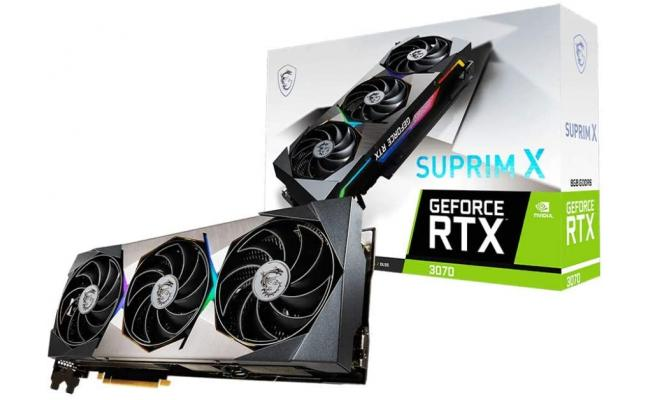 MSI GeForce RTX 3070 SUPRIM X GDDR6 8GB 192-bit - Graphics Card (On Custom Build Only)