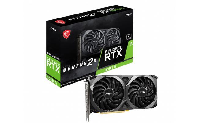 MSI GeForce RTX™ 3060 Ti VENTUS 2X 8G V1 LHR - Graphics Card