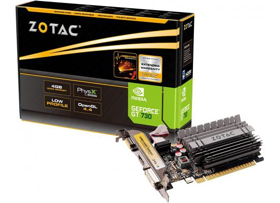ZOTAC GT 730 4GB Zone Edition DDR3 - Graphics Card