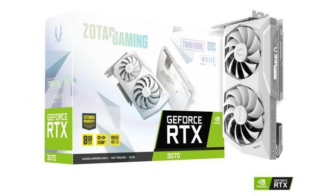 ZOTAC GAMING GeForce RTX 3070 Twin Edge OC 8GB GDDR6 LHR (White Edition) - Graphics Card