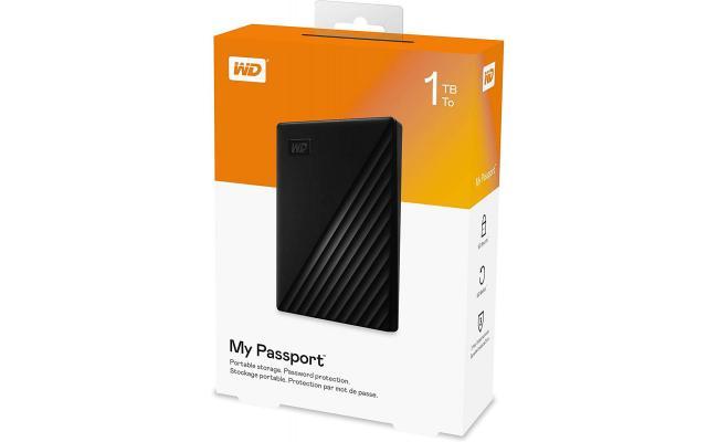 WD 1TB My Passport Portable External Hard Drive, Black