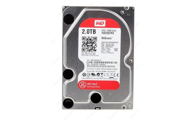 WD Red 2TB  Hard Drive - 5400 RPM Class - SATA 6 Gb/s - 64 MB Cache - 3.5Inch