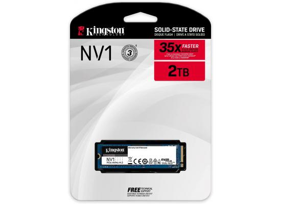 Kingston NV1 2TB M.2 NVMe PCIe SSD Ideal for laptops & Small Form Factor PCs