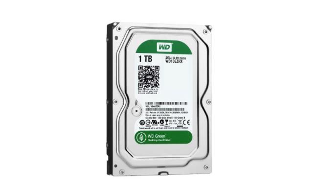 WD Green 1TB Hard Drive - 5400 RPM Class - SATA 6 Gb/s - 64 MB Cache - 3.5Inch