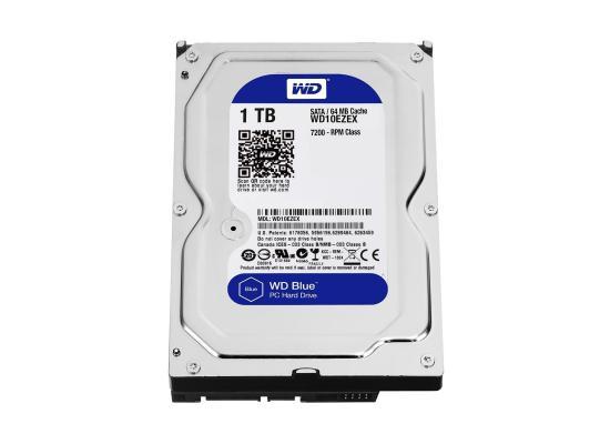 Western Digital Blue HDD Desktop Storage 1TB 7200RPM SATA 6 Gb/s, 64 MB Cache - 3.5 Hard Drive