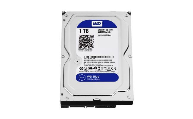 Western Digital Blue 1TB PC Hard Drive HDD - 7200 RPM, SATA 6 Gb/s, 64 MB Cache - 3.5