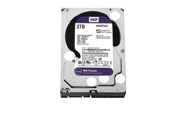 WD Purple 3TB Surveillance Hard Drive - 5400 RPM Class - SATA 6 Gb/s - 64 MB Cache - 3.5Inch
