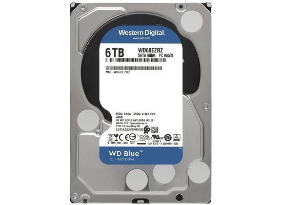 Western Digital Blue HDD Desktop Storage 6TB Surveillance 5400RPM SATA 6Gb/s, 64 MB Cache - 3.5 Hard Drive
