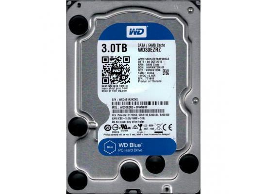 Western Digital Blue HDD Desktop Storage 3TB 5400RPM SATA 6 Gb/s, 64 MB Cache - 3.5 Hard Drive