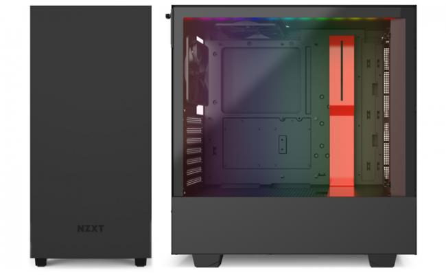 NZXT H510I MATTE RED Tempered Glass addressable LED strip Gaming Case