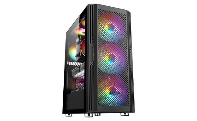 ABKONCORE C800 RGB 3X ARGB Fans and 120mm  REAR RGB Fan Tempered Glass Case
