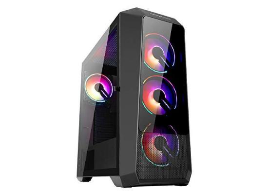ABKONCORE H300G ARGB 3X ARGB HALO Fans and 120mm  REAR ARGB HALO Fan Tempered Glass Case