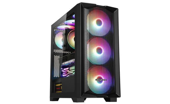 ABKONCORE H450X RGB 3X 140mm ARGB Fans and 120mm REAR RGB Fan Tempered Glass Case
