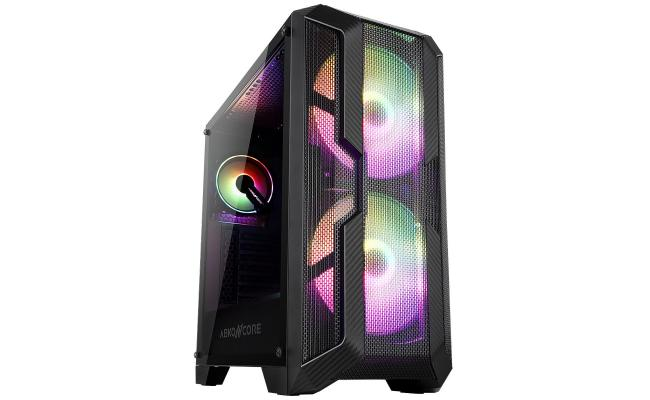 ABKONCORE H600X Mesh 200mm ARGB Fans and 120mm ARGB Fan, Two Side Tempered Glass Case