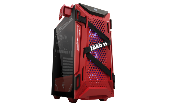 ASUS TUF Gaming GT301 ZAKU II EDITION RGB, Mid-Tower Gaming Case With Tempered Glass Side Panel, AURA ARGB Fan, Honeycomb Front Panel