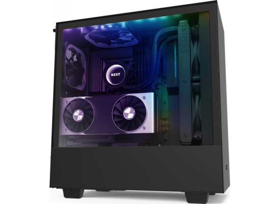 NZXT H510i MATTE BLACK Tempered Glass addressable LED strip Gaming Case