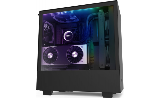 NZXT H510I MATTE BLACK Tempered Glass addressable LED strip Gaming Case
