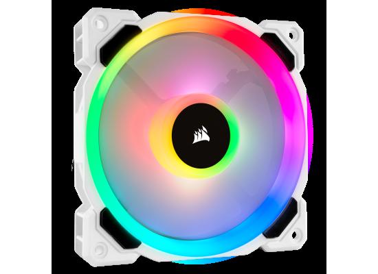 Corsair LL120 RGB 120mm Dual Light Loop White RGB LED PWM Fan - Single Pack