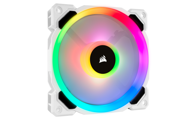 Corsair LL120 RGB 120mm Dual Light Loop White RGB LED PWM Fan — Single Pack