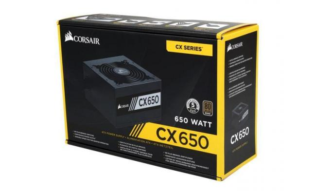 Corsair CX Series™ CX650M — 650W 80 PLUS® Bronze Certified Semi Modular ATX PSU