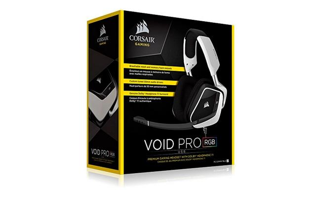 VOID PRO RGB USB Premium Gaming Headset with Dolby® Headphone 7.1 — White