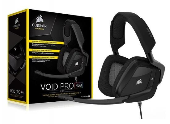 VOID PRO RGB USB Premium Gaming Headset with Dolby® Headphone 7.1 — Carbon