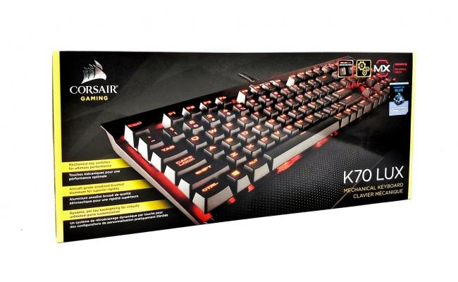 Corsair K70 LUX Mechanical Gaming Keyboard — Red LED — CHERRY® MX Red