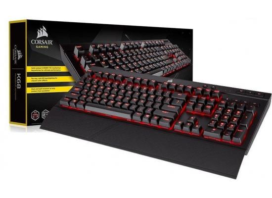 Corsair K68 Mechanical Gaming Keyboard — Red LED — CHERRY® MX Red