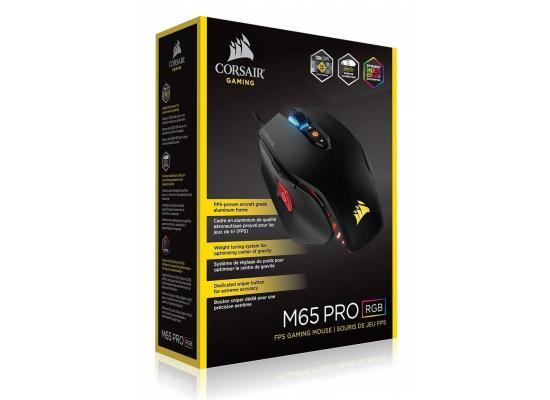 Corsair M65 PRO RGB FPS Gaming Mouse — Black